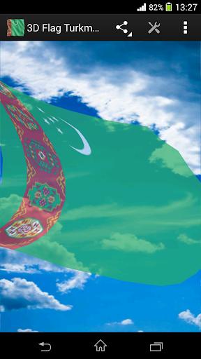 3D Flag Turkmenistan LWP