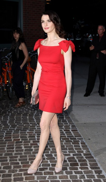 Rachel Weisz - arrives at the Tribeca Grand Hotel for a screening of the movie The Whistleblower