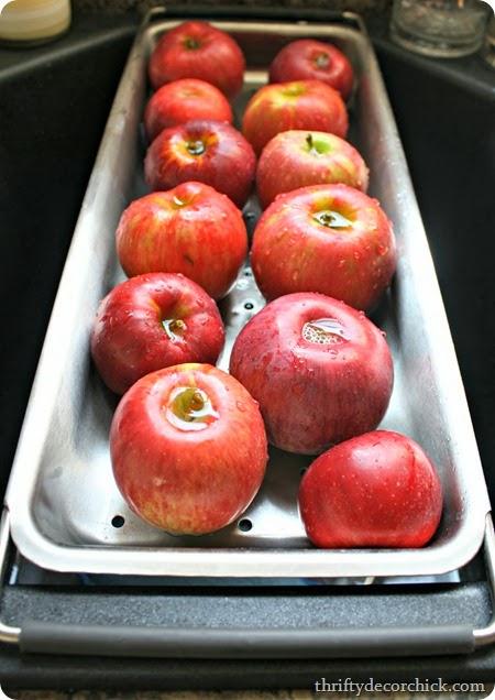 Jonathan apples crockpot applesauce