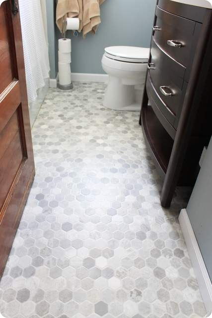 hexagon vinyl floor
