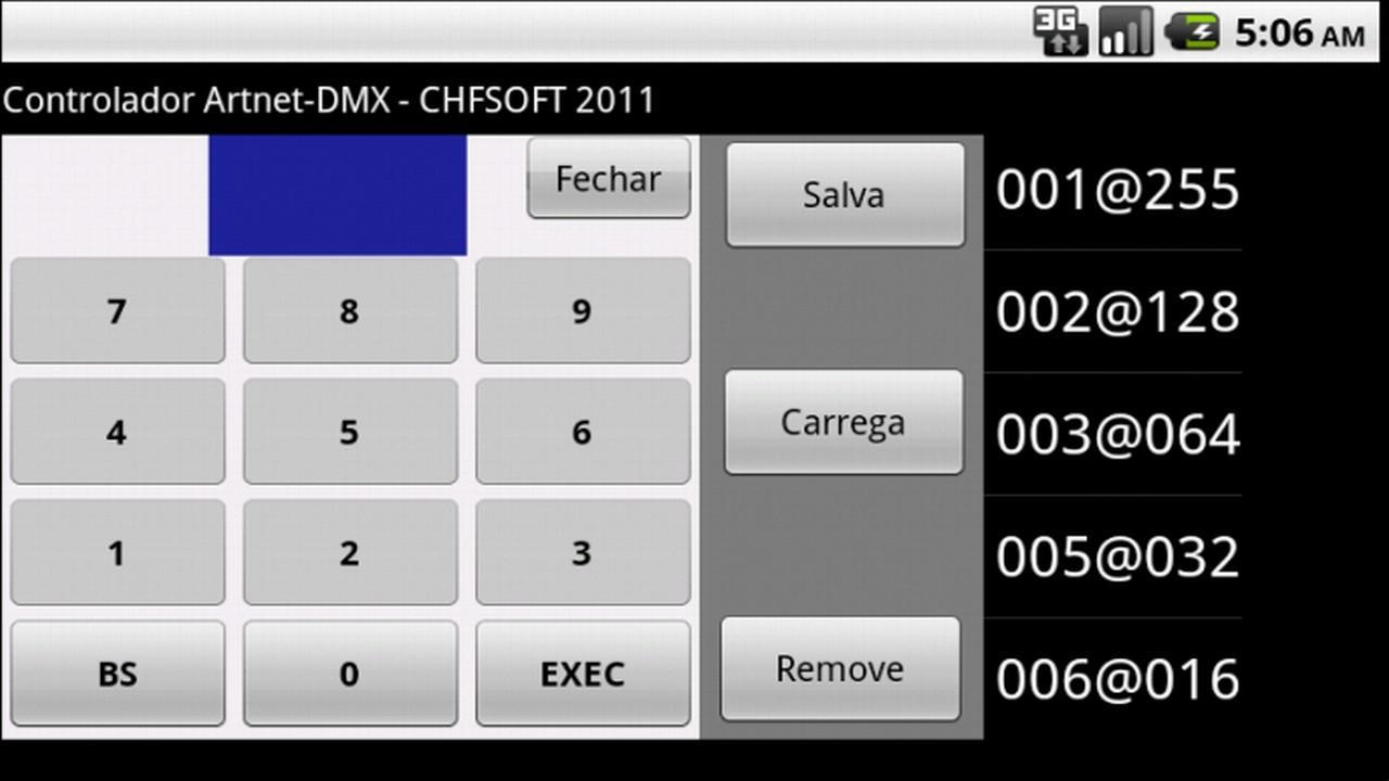 Artnet DMX Controller (FULL)- screenshot