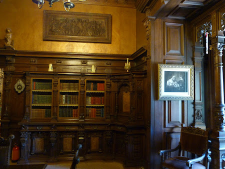 Muzeu Romania: biblioteca castel Peles