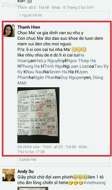 """Danh sách khán giả nhận túi """"TÍA TUI LÀ CAO THỦ"""""""