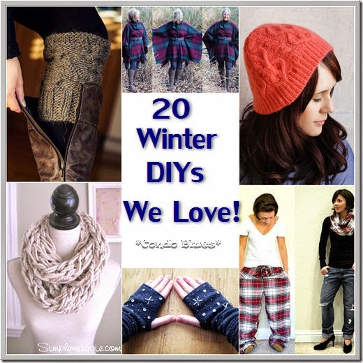 20 winter DIY recycled clothes projects