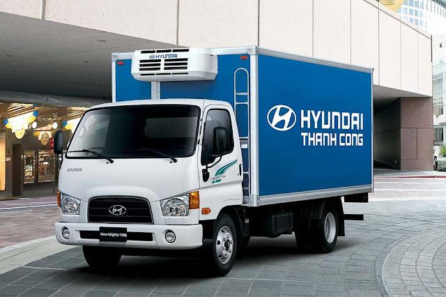 Hyundai 110s 7 tấn thùng bạt, thùng kín, thùng lửng
