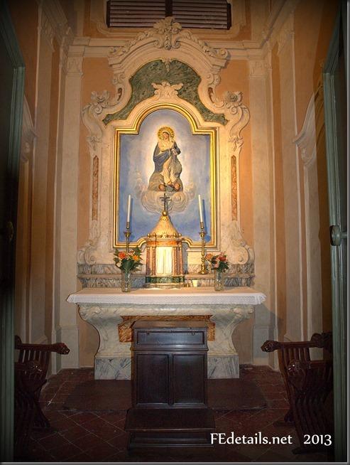 Residenza estiva di Belriguardo: cappella privata, Voghiera, Ferrara - Summer residence of Belriguardo: private chapel, Voghiera, Ferrara, Italy, Photo3