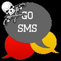 GO SMS - Skull Pistol icon