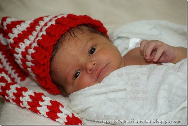crochet baby elf hat