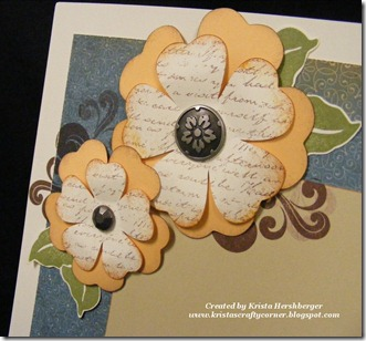 Florentine Summer layout flower close up