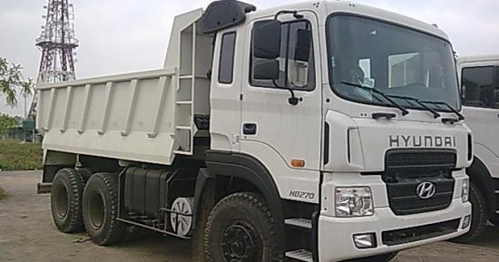 Xe Ben tự đổ HD270 Hyundai 15 tấn.