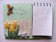 Quilled paper note pad