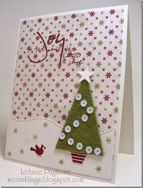 LeAnne Pugliese WeeInklings Joy to the Lord Felt Christmas Tree Stampin Up