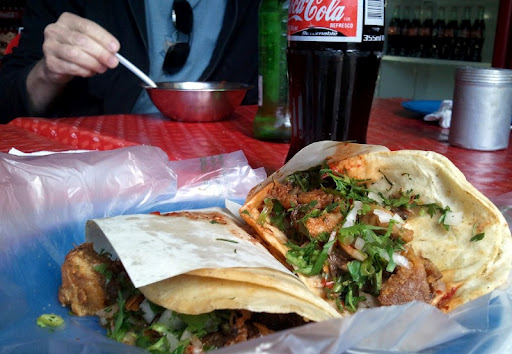 Birria and campechano tacos at Tacos Fitos