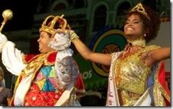 desfiles das escolas de samba: rei Momo e rainha do carnaval de Permanbuco