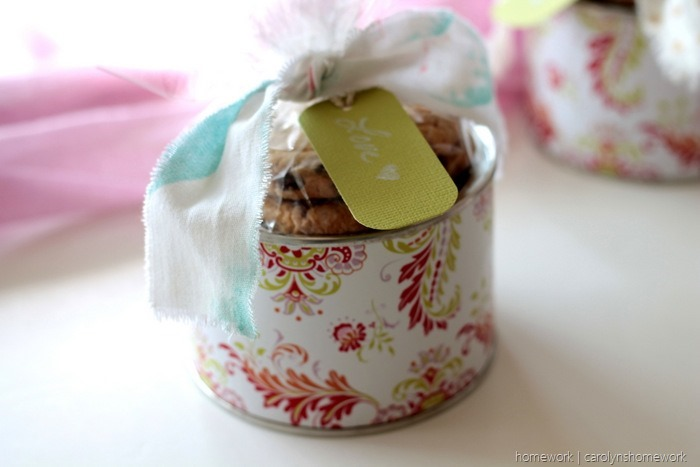 Upcyled Peanut can to Cookie Tin - homework (2)