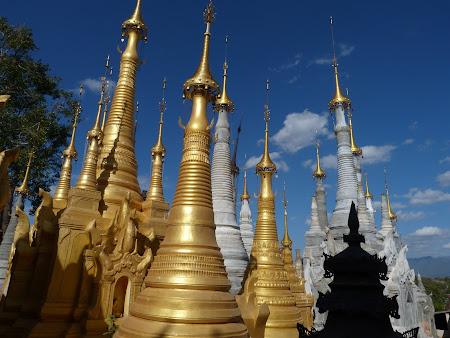 Obiective turistice Myanmar: stupe la Inle Lake