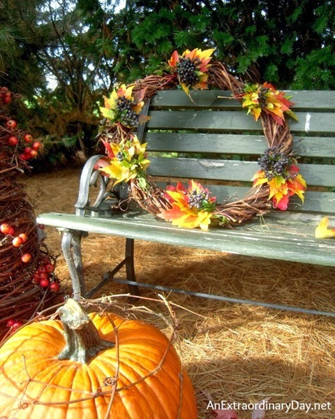 Day-24-Fall-Vignette-Be-Creative-Natural-Fall-Wreath-OutdoorFallVignette-AnExtraordinaryDay.net_