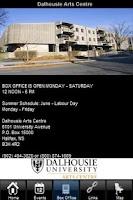 Screenshot of Dalhousie Arts Centre App