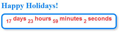 Christmas Countdown Widget.Create A Christmas Countdown Timer Widget In Blogspot