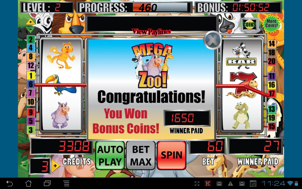 Mega Zoo Slot Machine- screenshot