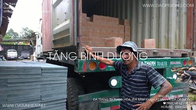Đá trang trí Thanh Hóa (đá băm xanh lát sân 30x60 cm và đá ốp tường đóng thùng carton)