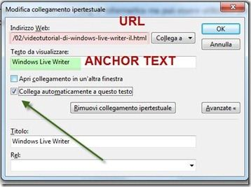 anchor text windows live writer