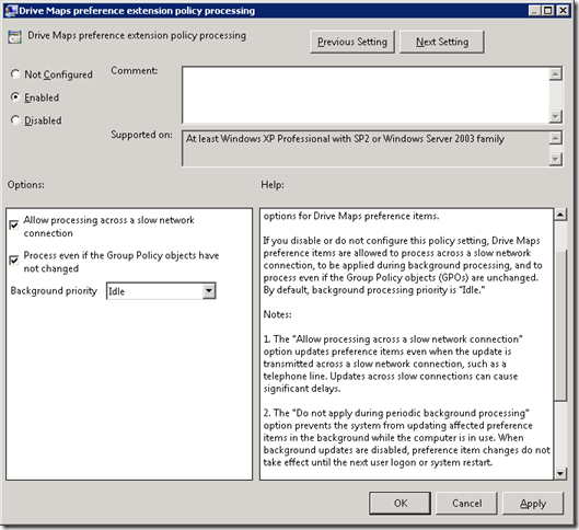 MINDCORE BLOG: Drive Mappings in Group Policy Preferences