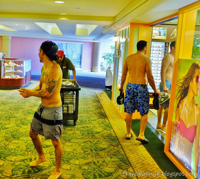 Waikiki is a beachfront neighbourhood of Honolulu, so expect to see lots of  bikini clad girls and topless hunks.
