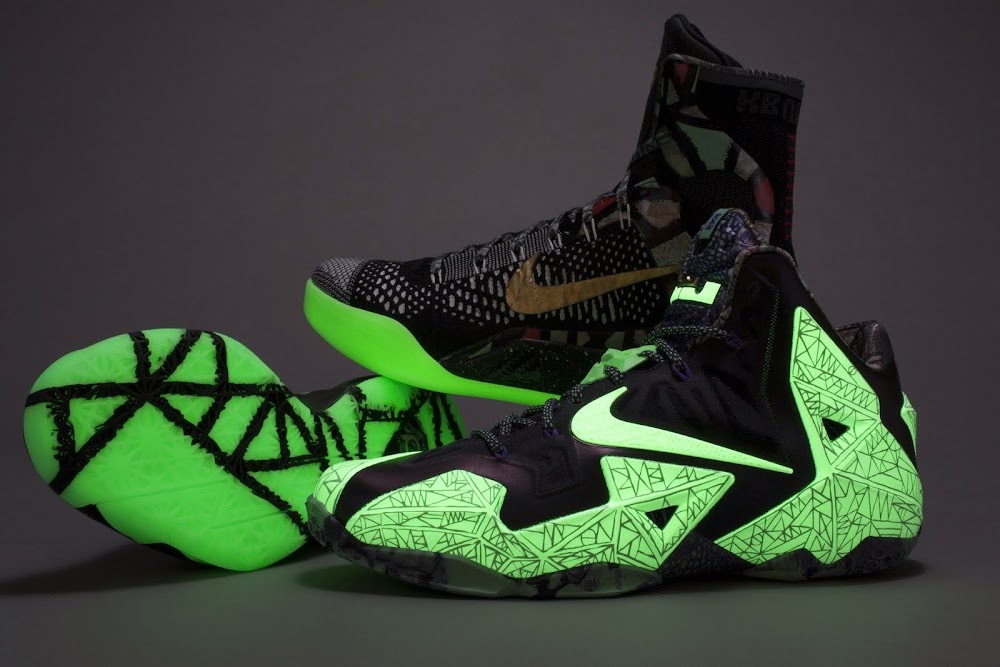 buy online 2e566 d8223 glow in the dark   NIKE LEBRON - LeBron James Shoes