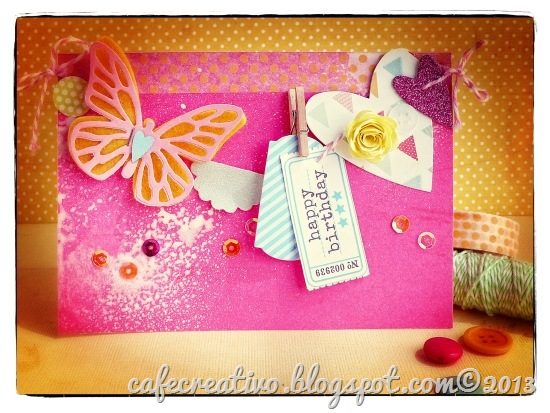 cafe creativo - Anna Drai - big shot sizzix - card - summer - banner