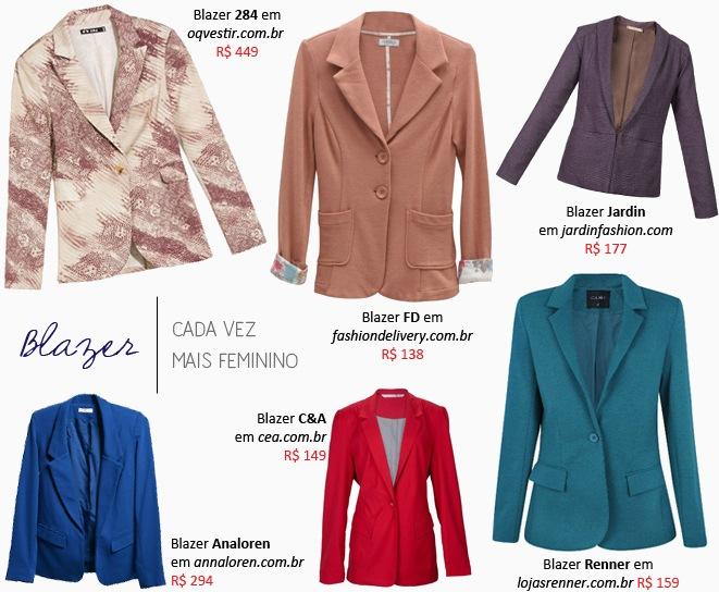 5f9c57964e Blazer Feminino  Modelo colorido – Sugestões de compra online ...