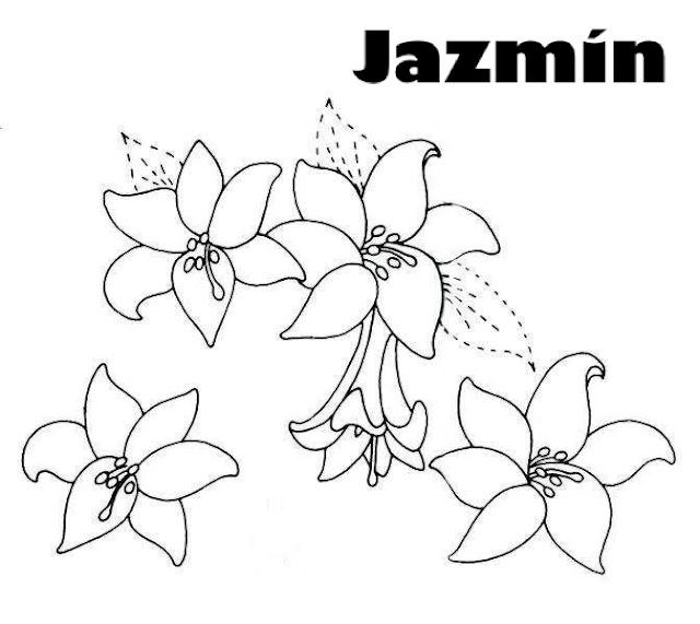 Dibujos De Jazmines Para Colorear