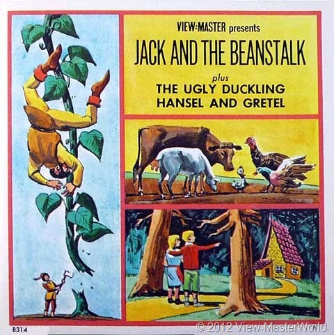 View-Master Three Fairy Tales featuring Jack and the Beanstalk (B314), Booklet Cover
