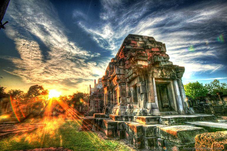 Sunset temple near Korat final
