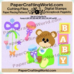 baby set 4 papered 3502