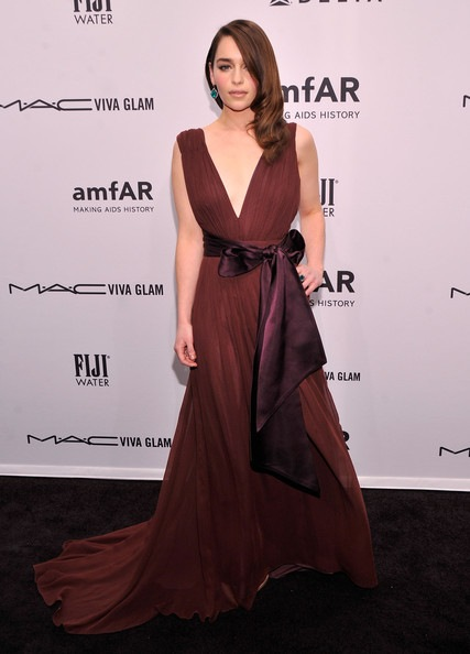 Emilia Clarke attends the amfAR New York Gala