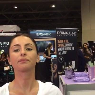 We're removing permanent marker tattoos with Clinique Take The Day Off at IMATS