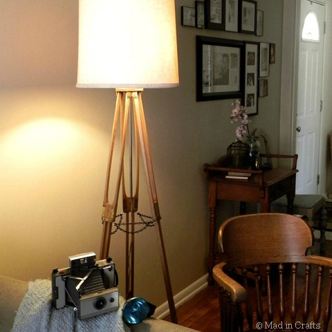 diy camera tripod floor lamp sepia square