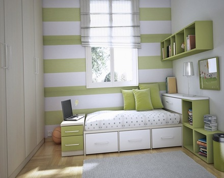 decoracion-habitacion-de-niños-color-verde-blanco