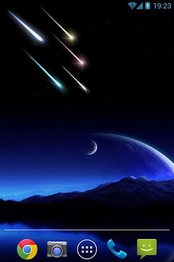 Meteor shower Live Wallpaer