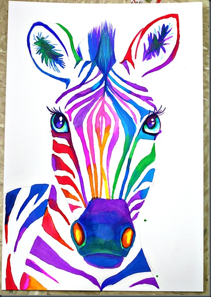 They Are Coming Along Well And I Cannot WAIT To Post Results These The Fifth Grade Color Wheel Zebras We Studying Analogous Friend Colors