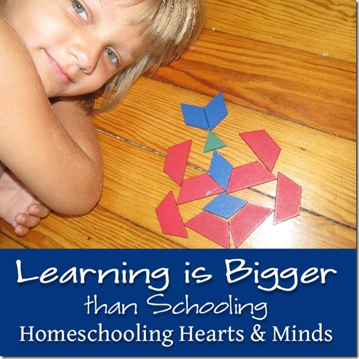 "So much of what we learn has nothing to do with what we learn in ""school.""  Homeschooling Hearts & Minds"