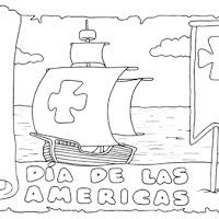 Dia De La Hispanidad Para Colorear