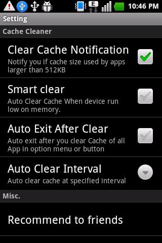 Easy cache cleaner Pro - screenshot