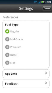 MapQuest Gas Prices- screenshot thumbnail