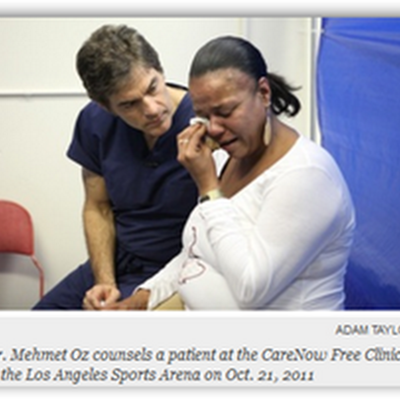 "Dr. Oz Says ""Enough is Enough"" As He Volunteered at the CareNow Free Clinic In Los Angeles ""Failure of Basic Morality in the US"""