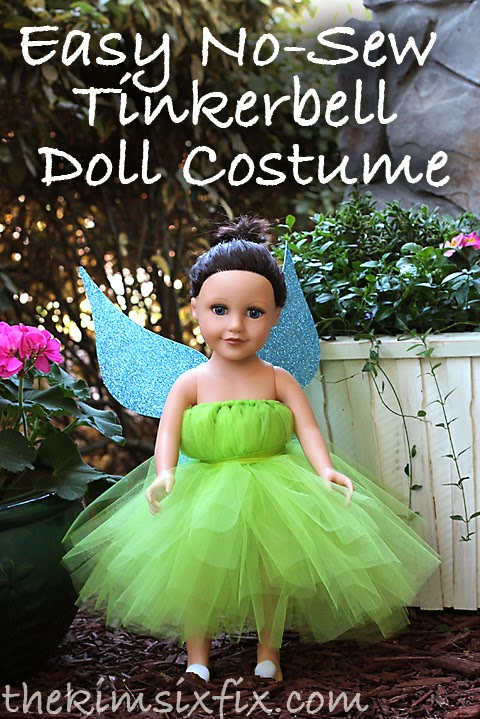 No Sew TinkerBell American Girl Costume