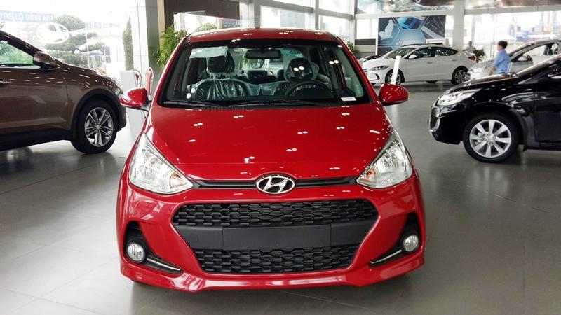 Xe Hyundai Grand i10 Hatchback 5 Cửa màu đỏ thế hệ mới 01