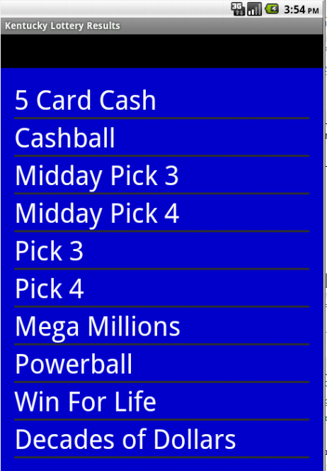 kentucky lottery 5 card cash results