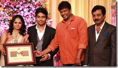 R.Parthiban at GV Prakash Kumar & Saindhavi Wedding Reception Photos